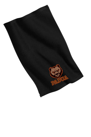 Padua Bowling Black Embroidered Towel