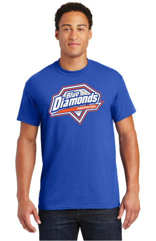 Blue Diamond Short Sleeve T-shirt
