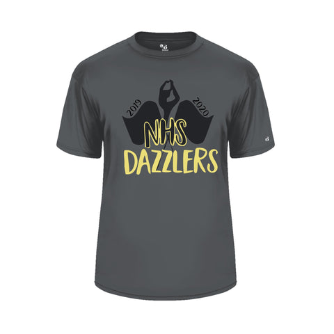 Normandy Dazzlers Badger Dry Fit T-Shirt with Glitter Name on back