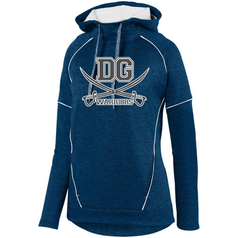 DG Warriors Ladies Augusta Zoe Tonal Heather Hooded Sweatshirt