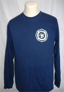Parma Fire Screenprinted 50/50 Long Sleeve T-Shirt