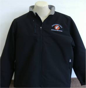 Black Soft Shell Jacket with Embroidered NOOA Logo