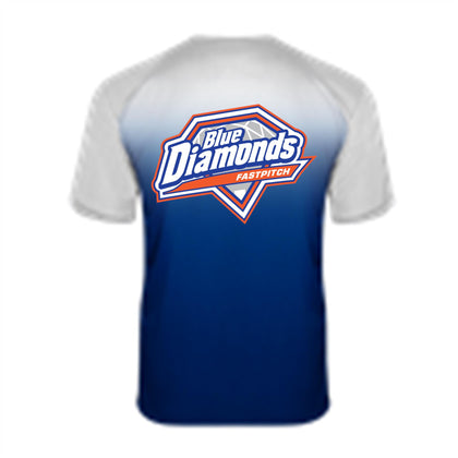 Blue Diamond Ombre T-Shirt
