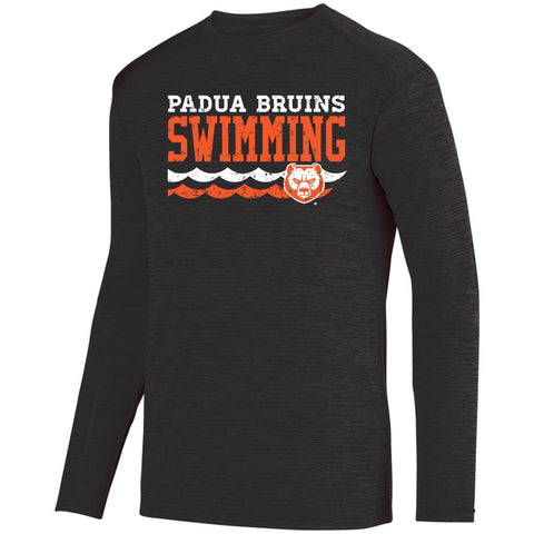 Padua Swimming Augusta Shadow Tonal Heather Long Sleeve Tee