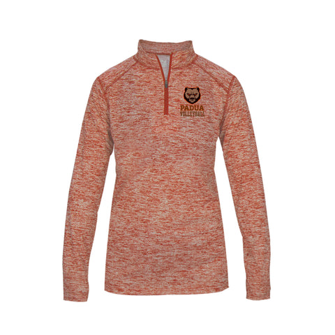 Padua Volleyball Badger Ladies Blend 1/4 Zip (Orange, Silver, or Black)