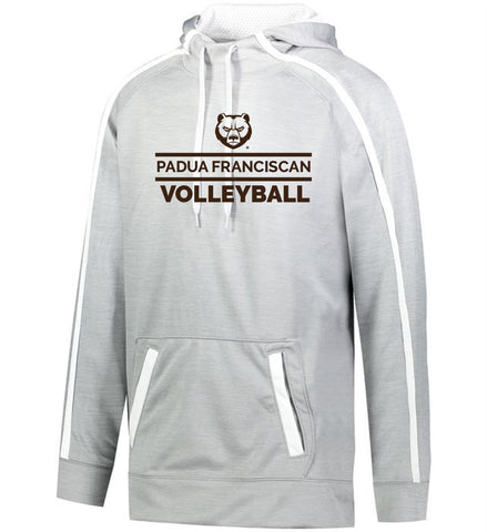 Padua Volleyball Augusta Stoked Tonal Heather Hoodie (Silver and Orange)