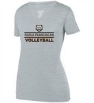 Padua Volleyball Augusta Ladies Shadow Tonal Heather Training Tee (Silver or Orange)