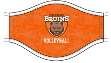 Padua Volleyball Single-Ply Dry Fit Mask - 5 PACK