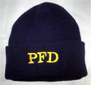 Parma Fire Embroidered Winter Knit Hat