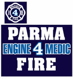 NEW Parma Fire Hanes Beefy T-shirt (Available for all stations)
