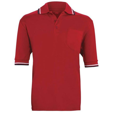 Adams Red Short Sleeve Umpire Shirt