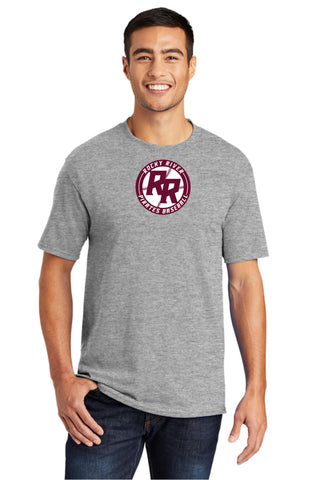 Rocky River Baseball 50/50 T-Shirt (Maroon & Gray)