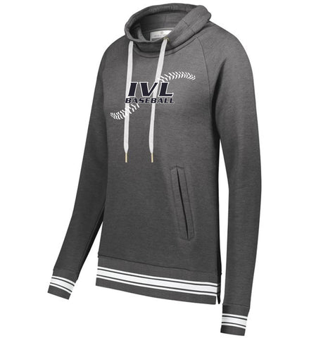 IVL Baseball Seams Holloway Ladies Ivy League Funnel Neck Pullover