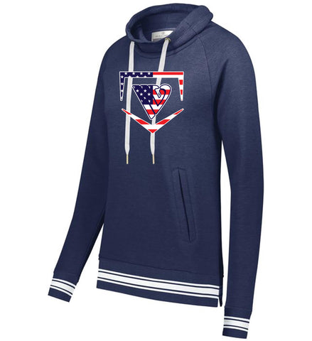 Stars & Stripes Holloway Ladies Ivy League Funnel Neck Pullover