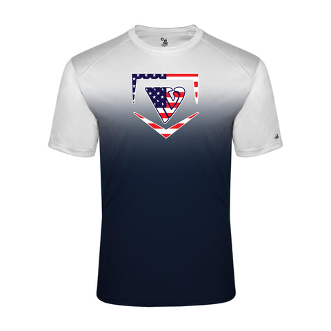 Stars & Stripes Badger Ombre Dry Fit T-Shirt