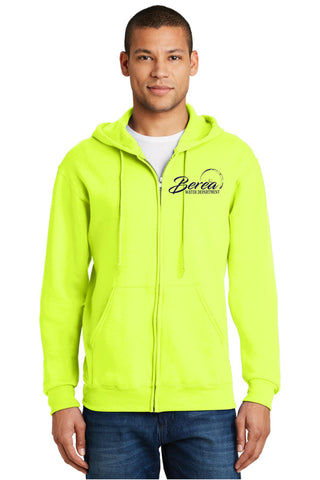 Berea Service Dept. Jerzees Nublend 8 oz Full Zip Hooded Sweatshirt (Sold in 3 colors)