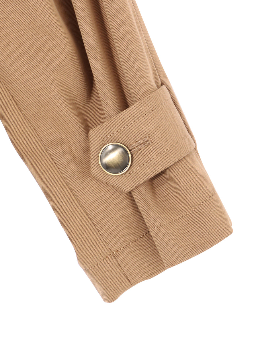 NO COLLAR COAT WITH BIG POCKETS