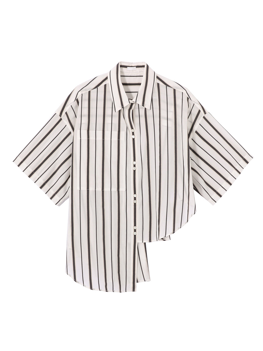 STRIPE ASYMMETRY SHIRT