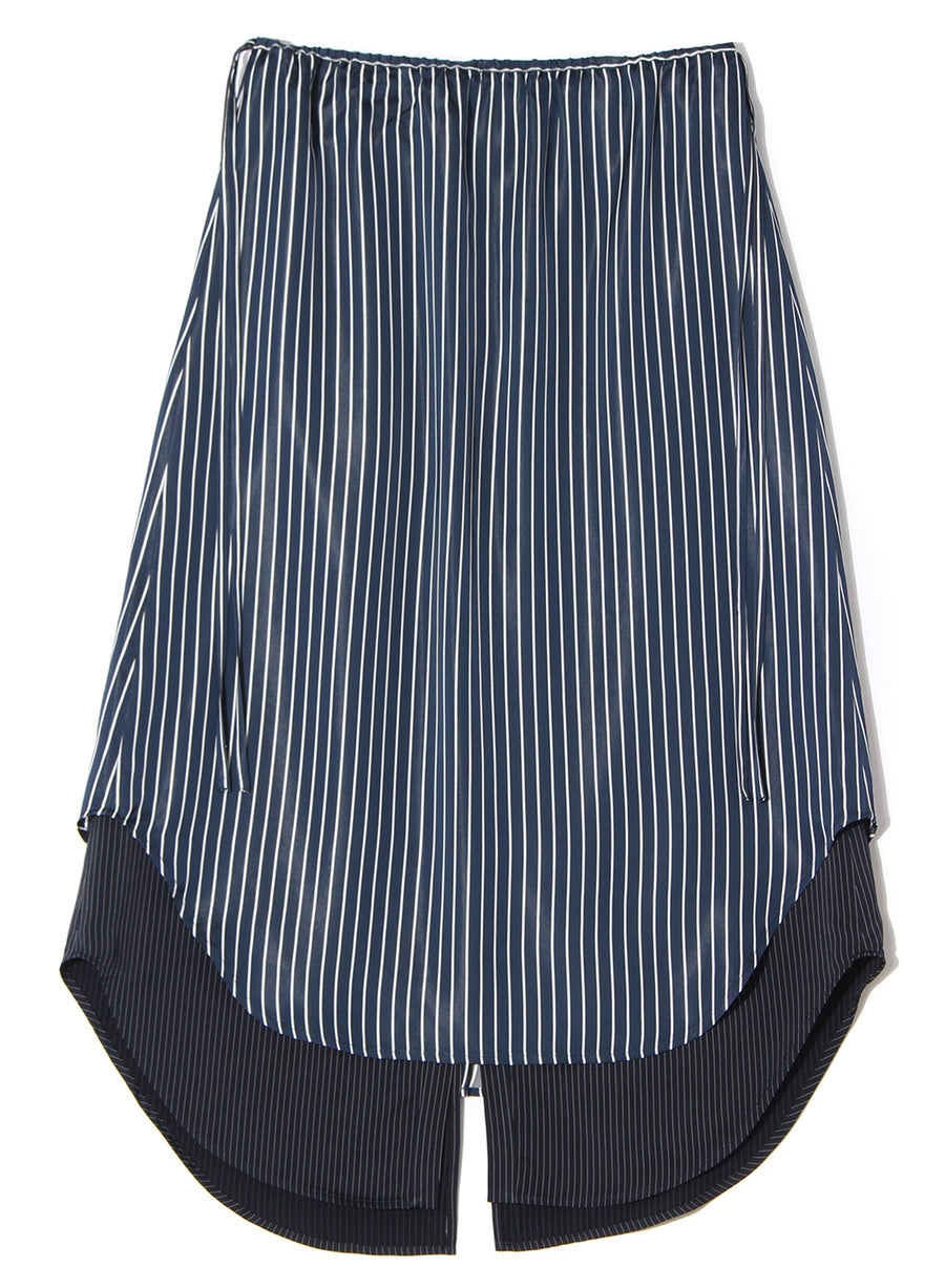 SATIN STRIPE SKIRT