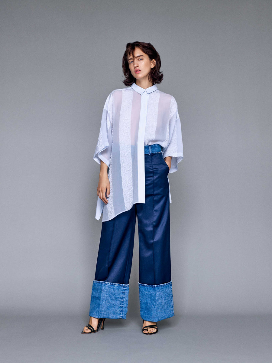 TWO FABRIC PANTS