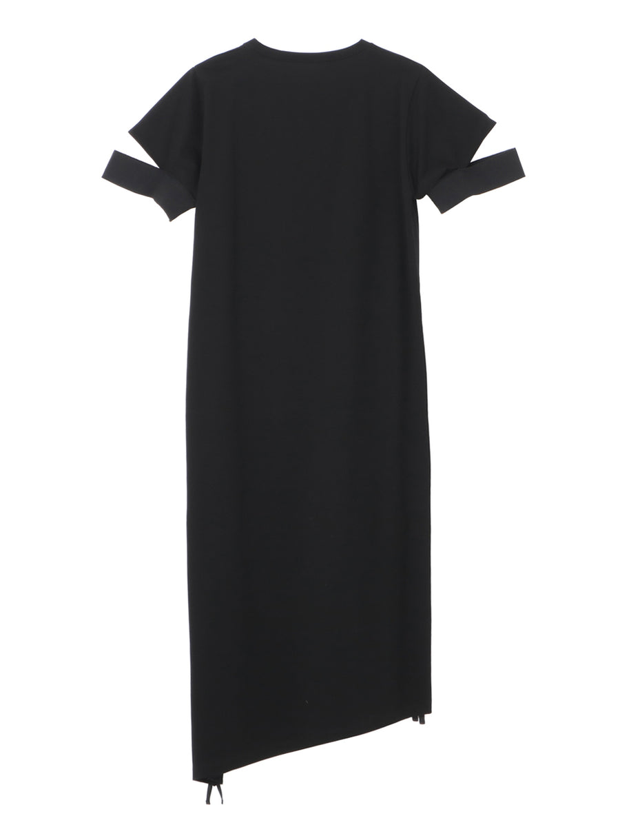 SIDE SHIRRING JERSEY DRESS