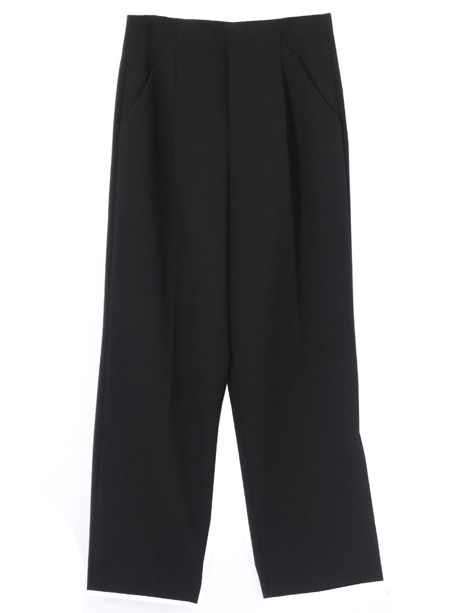 WOOL DOUBLE CLOTH PANTS