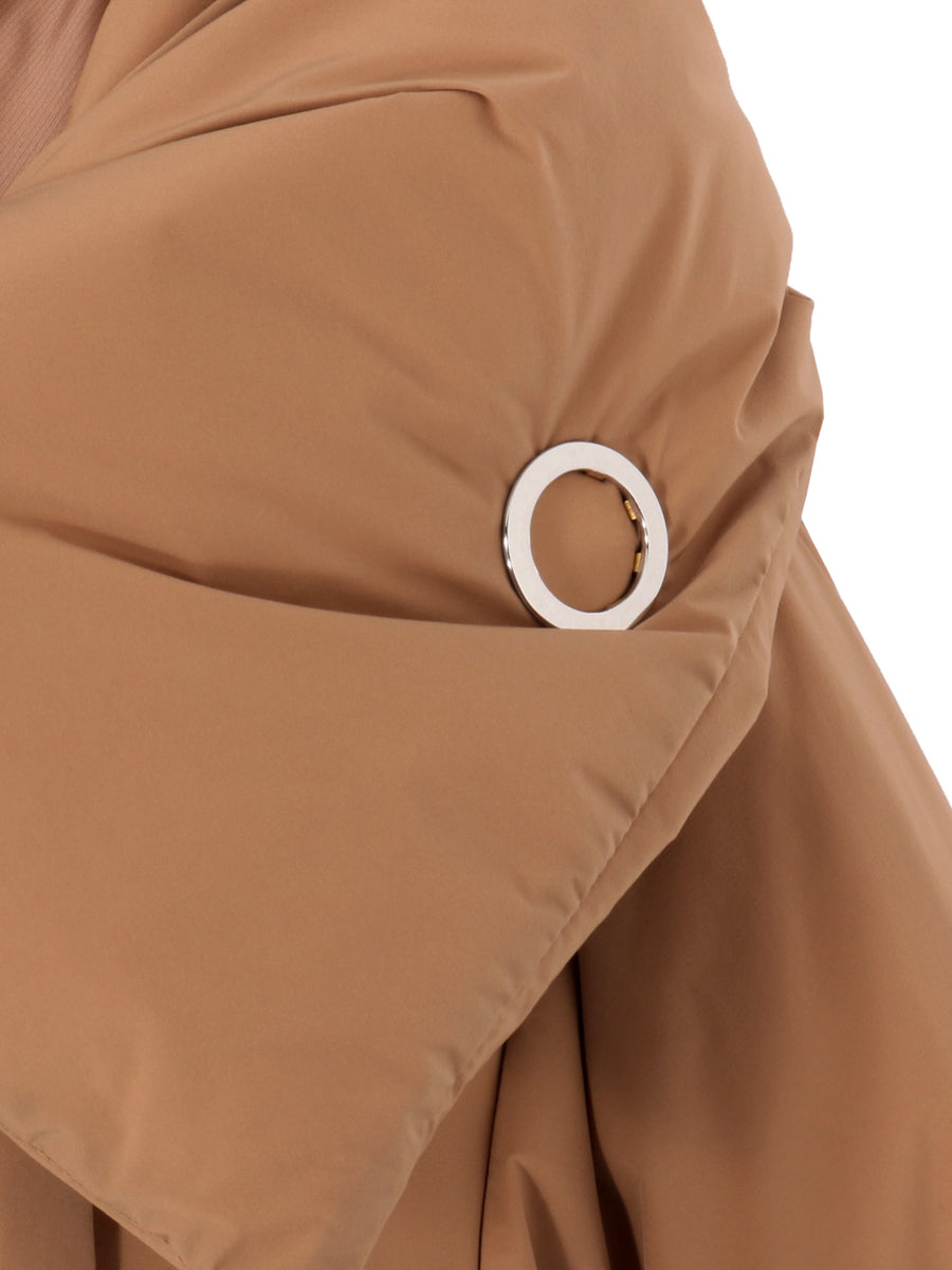 NYLON STRETCH SHORT DOWN COAT
