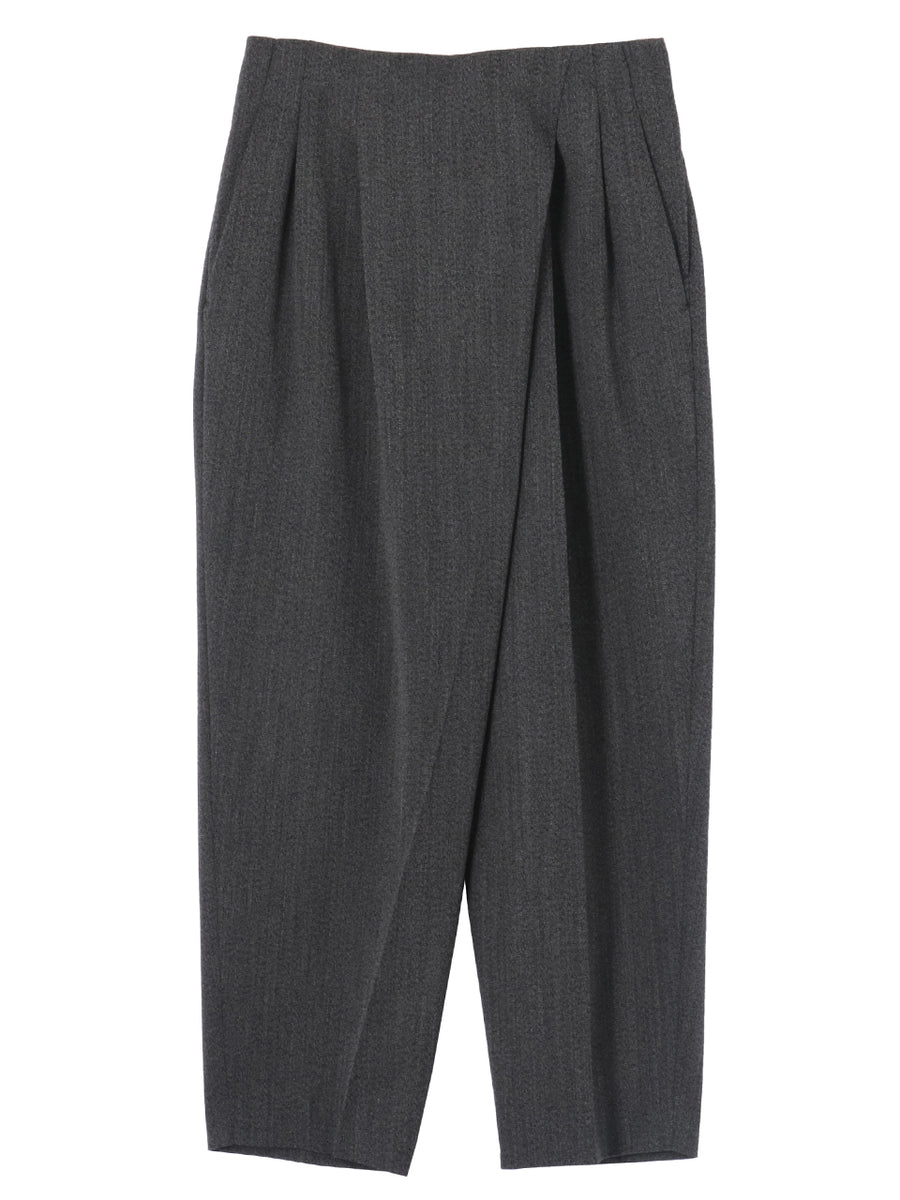 WOOL TUCK PANTS