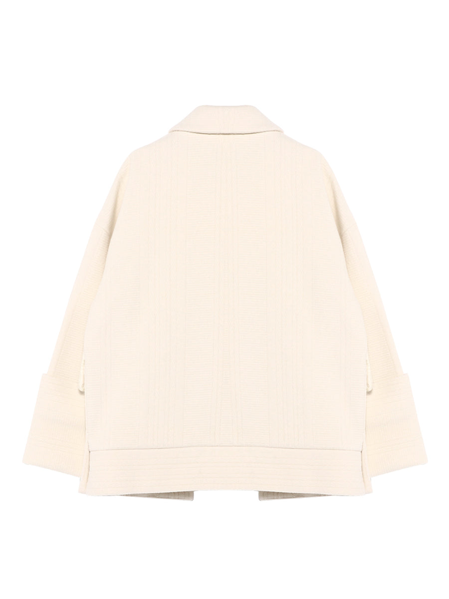 PANEL STRIPES SHORT JACKET