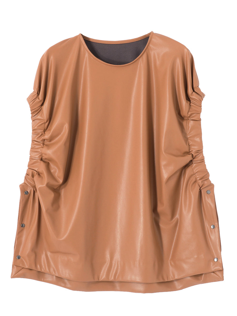 ECO LEATHER TOP