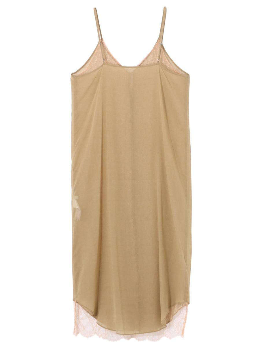 CAMISOLE DRESS WITH LEAVERS LACE