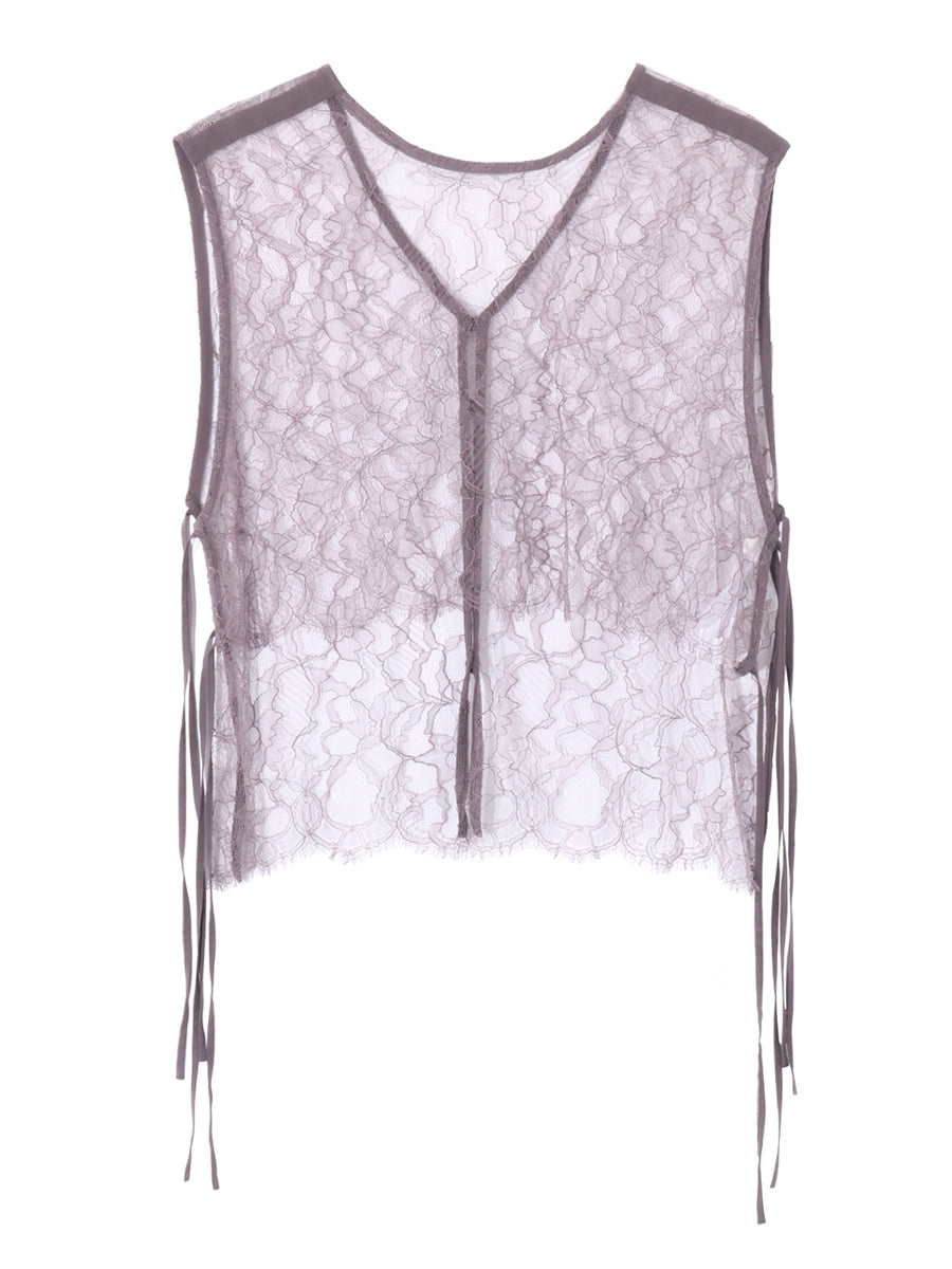 LEAVERS  LACE VEST