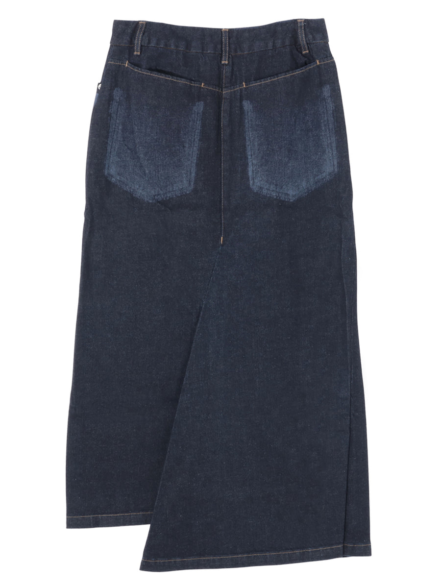 LASER PROCESSING DENIM SKIRT
