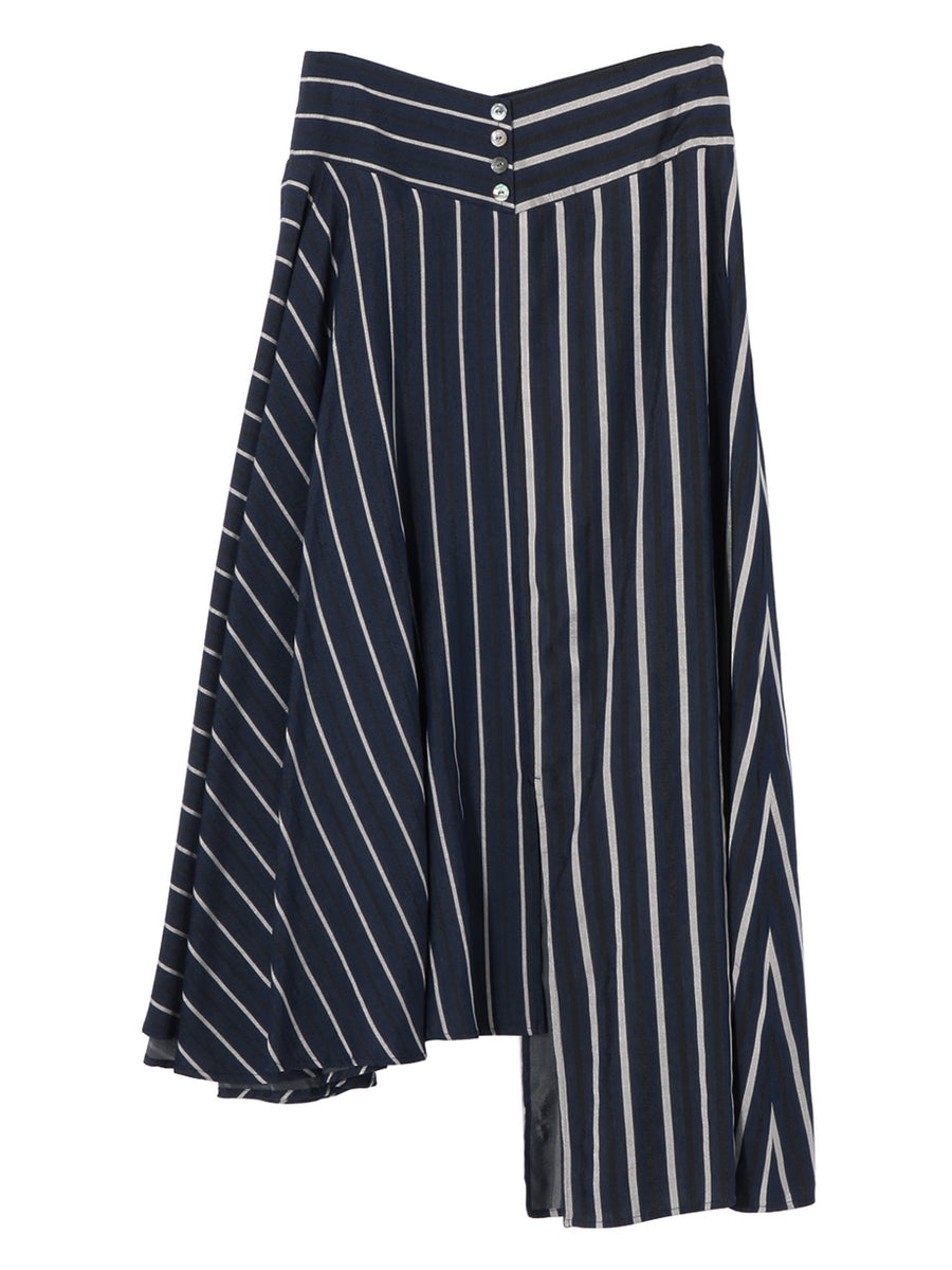 MULTI STRIPE ASYMMETRY SKIRT