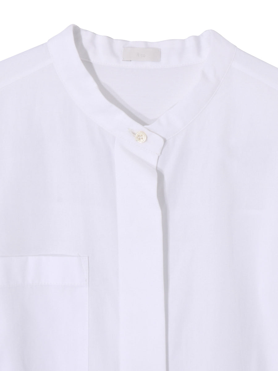 2WAY COTTON LONG SHIRT