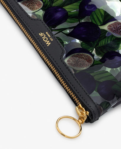 WOUF - Black Figue Pocket Clutch