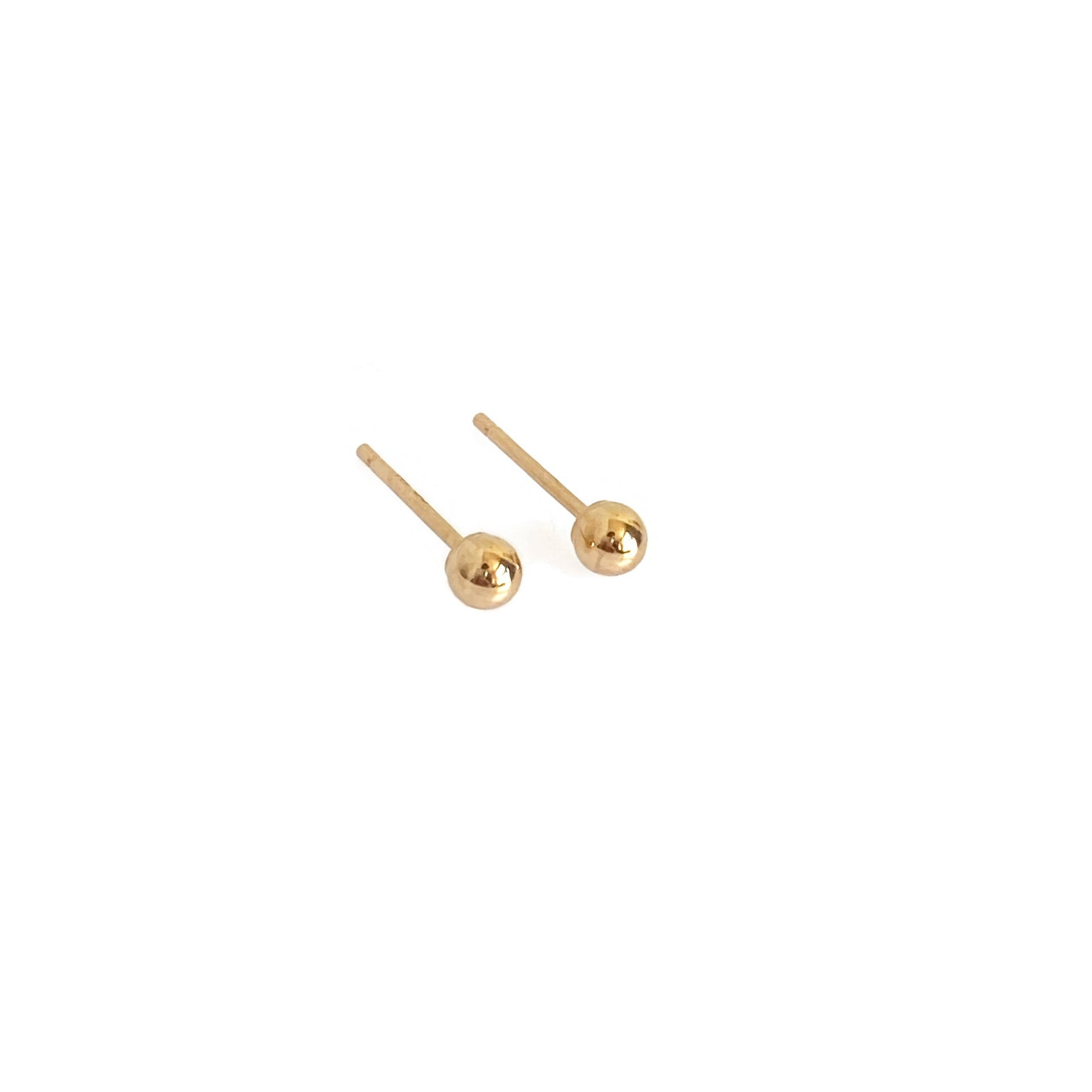 14k gold ball studs are great for people who have sensitive skin
