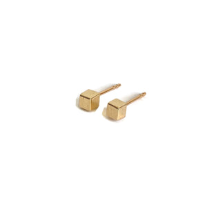 14k Cube Stud Earrings