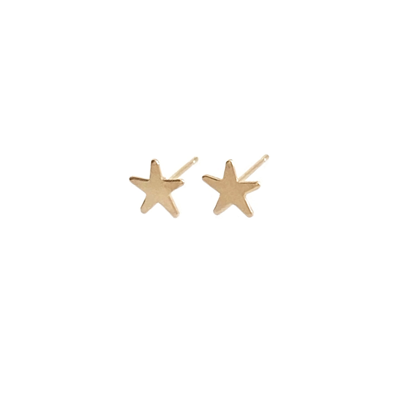 14k gold star stud earrings for everyday earrings. It's great to layer with other earrings