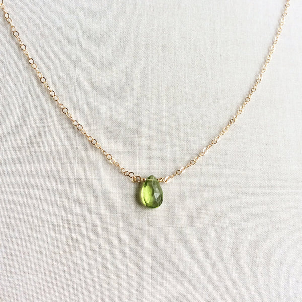Women's peridot necklaces are great birthday gift idea.  We can custom made it in different material and size.