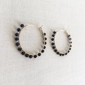black onyx hoop earrings are great everyday hoop earrings
