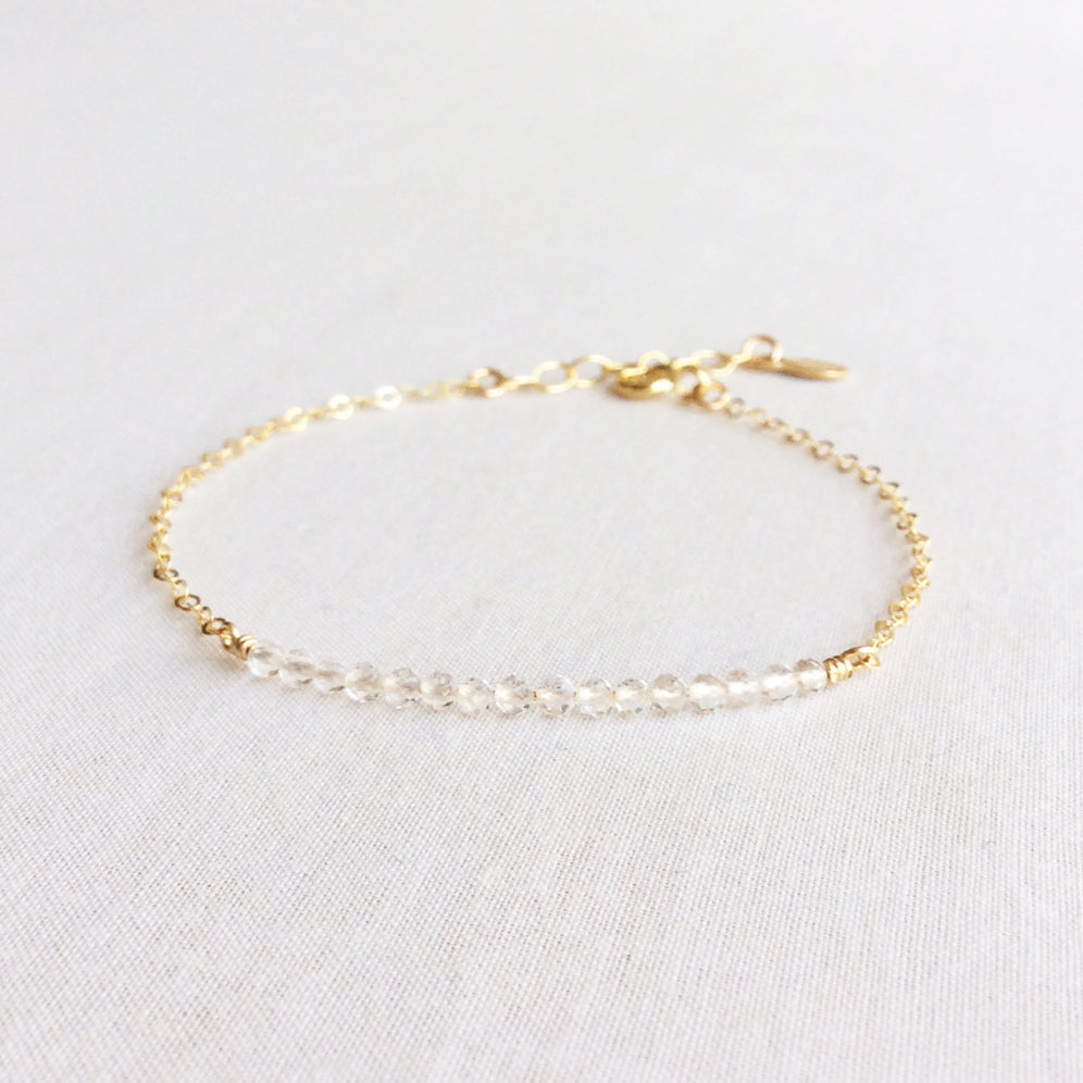 Clear Quartz Bead Bracelet