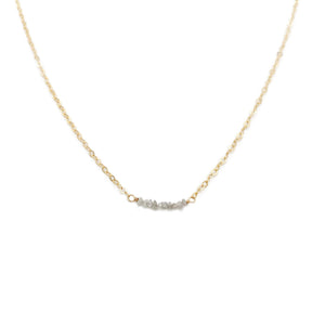 Rough Diamond Bead Necklace