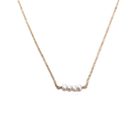 Dainty pearl necklace is great for your everyday outfit.