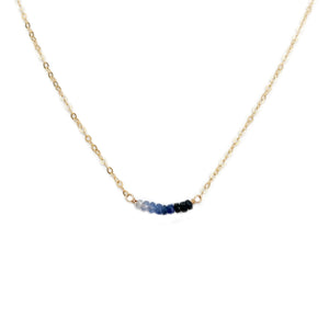 This Ombre Sapphire necklace is a September birthstone necklace.