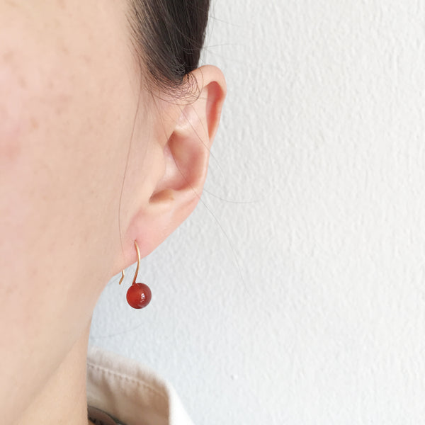 Carnelian Drop Earrings