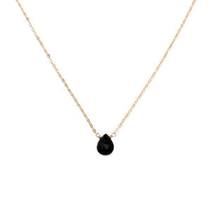This black onyx necklace is made with a single hand-selected black onyx gemstone.  This black stone necklace is for woman.