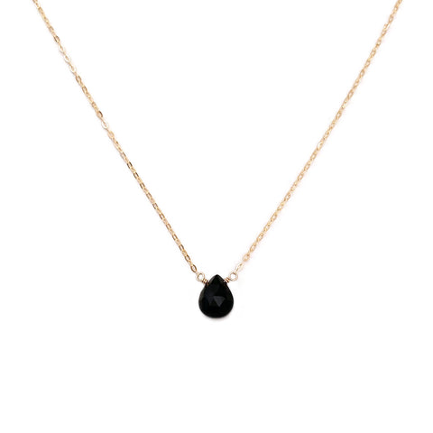 Black onyx necklace is dainty and simple for your everyday outfit