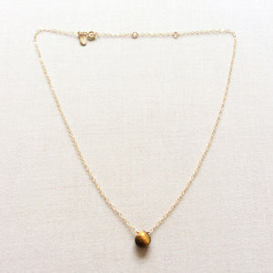Tigers Eye necklace in adjustable gold filled chain