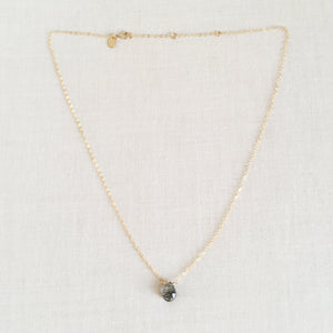 dainty Rutilated Quartz necklace with two inches extender